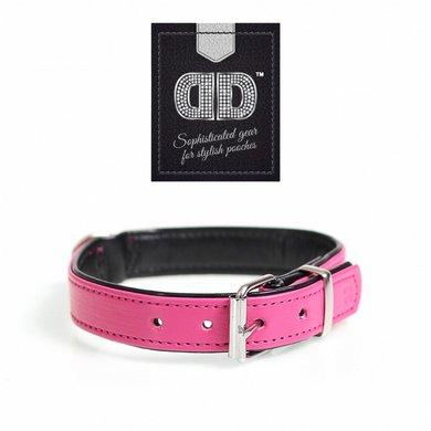 Duvo+ Chic Kunstleer Halsband Fuchsia