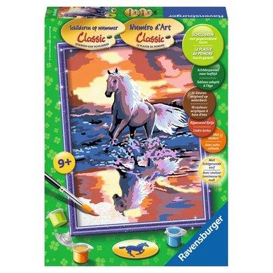 Schilderset Paard in het Avondrood