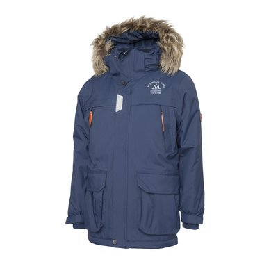Mountain Horse Jas Logan Parkas Junior Donkerblauw Bliss 160