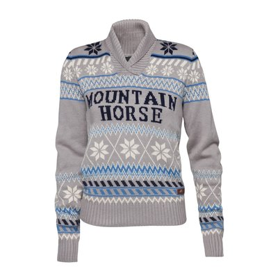 Mountain Horse Trui Iris Knitted Sweater Brilliant Grijs XS