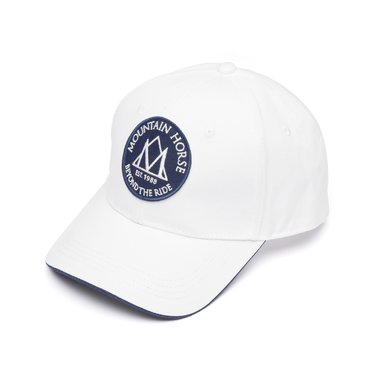 Mountain Horse Cap Logo Cap Linen Wit One size