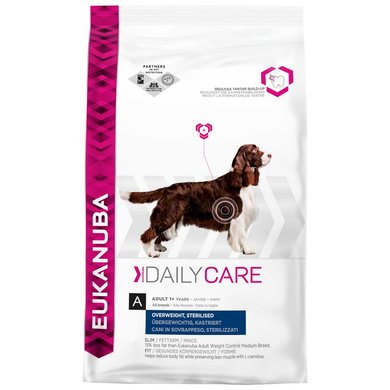 Eukanuba Dog Daily Care Adult Medium Ov Wght/stl 12,5kg