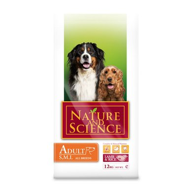 Nature&Science Dog Adult Lamb&Rice 12kg