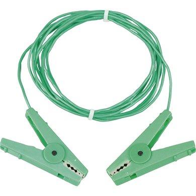 Patura Aardpen Verbindingskabel met Rvs Klemmen Groen 3m