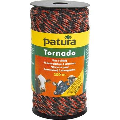 Patura Tornado Kunststofdraad Bruin/Oranje 200m