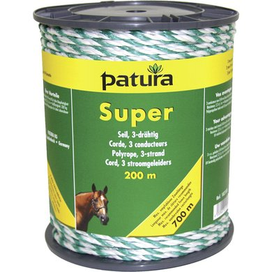 Patura Super Cord Wit/Groen 200m