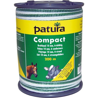 Patura Compact Lint 10mm Wit/Groen 400m