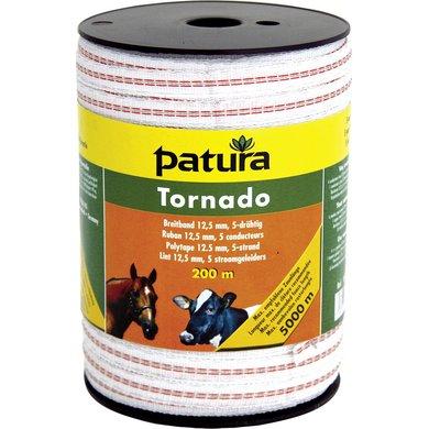 Patura Tornado Lint 12,5mm Wit/Oranje 400m