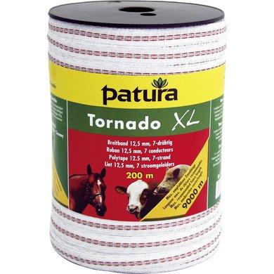 Patura Tornado XL Lint 12,5mm Wit/Rood 200m