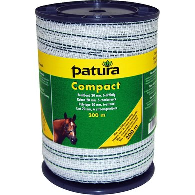 Patura Compact Lint 20mm Wit/Groen 200m