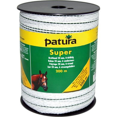 Patura Super Lint 20mm Wit/Groen 200m
