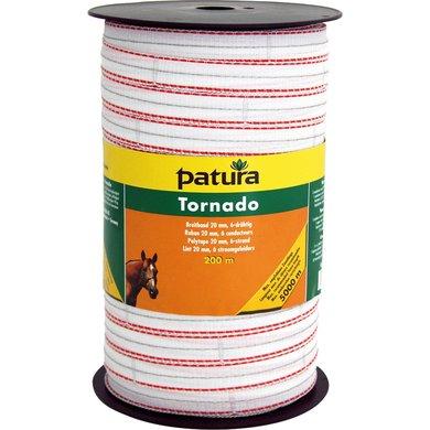 Patura Tornado Lint 20mm Wit/Oranje 200m
