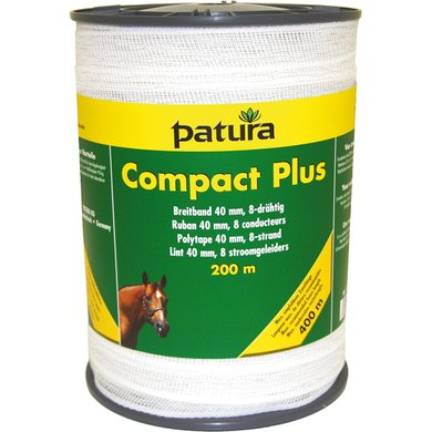 Patura Compact Plus Lint 40mm Wit 200m