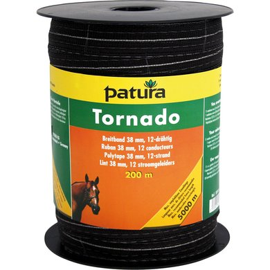 Patura Tornado Lint 38mm Bruin, 200m Rol Bruin 200m