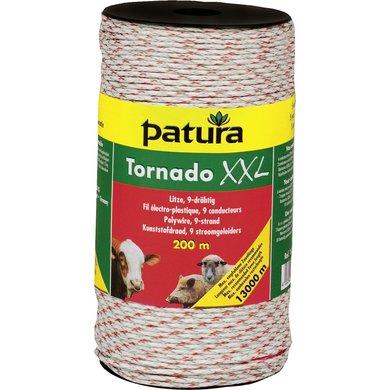 Patura Tornado XXL Kunststofdraad Wit/Rood 400m