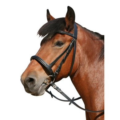 Pfiff Draught Horse Snaffle Bridle Black Carthorse