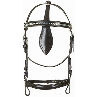 Pfiff Driving Bridle out Blinker Black