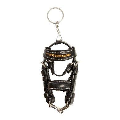 Pfiff Mini Bridle Key Ring Black