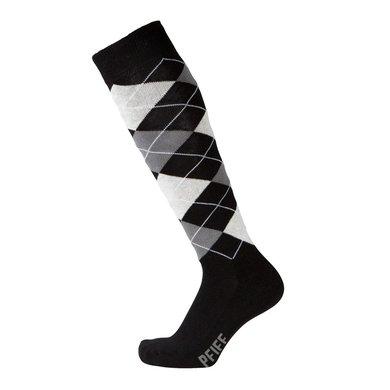 Pfiff Checked Riding Socks Black/White