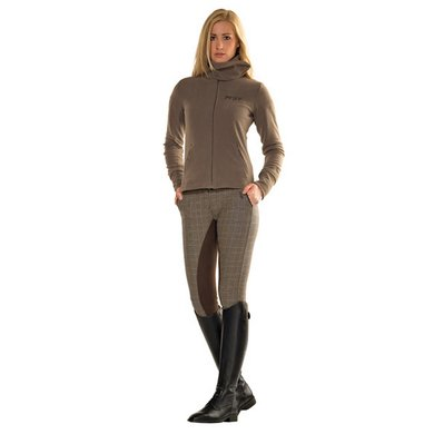 Pfiff Full Seat Checked Breeches Lucy Grey 44