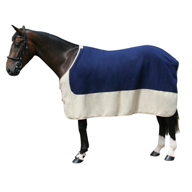 Pfiff Fleece Rug Blue/Beige