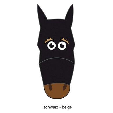 Pfiff Fly Mask Motif Black/Beige