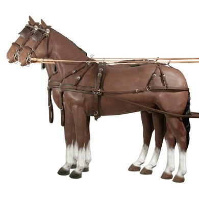 Pfiff Double Harness Synth. Brown Cob