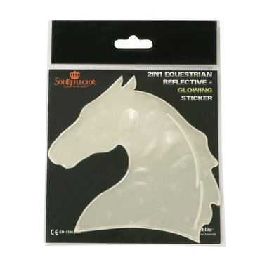 Pfiff Reflecterende Sticker paardenhoofd