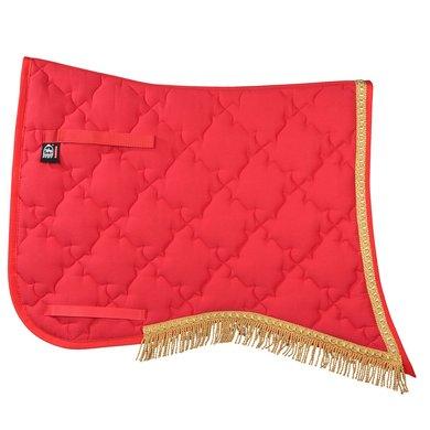Pfiff Classical Saddle Cloth Braiding New Luxus Red Full