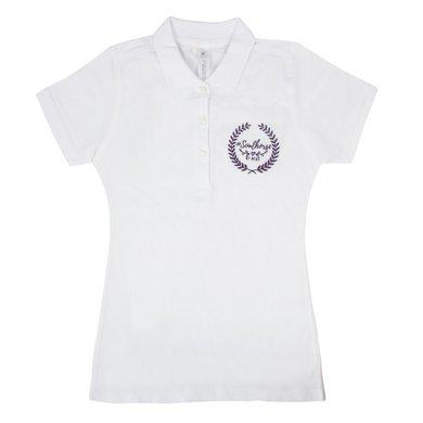 Pfiff Polo Shirt Logo White