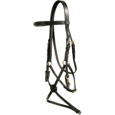 Pfiff Snaffle Bridle Mexican Noseband Black