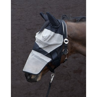 Pfiff Fly Mask Turnout Black and beige
