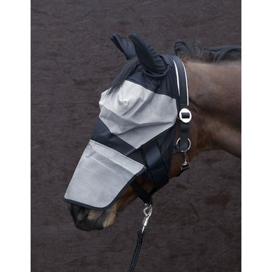 Pfiff Fly Mask Turnout Black - Grey
