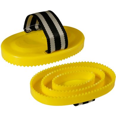 Pfiff Oval Plastic Curry Comb Yellow