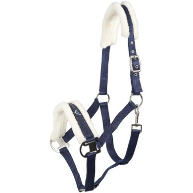 Pfiff Halter Padded Synth. Blue-Beige