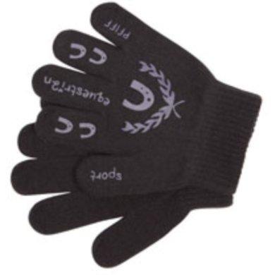 Pfiff Childrens Gloves Print Black