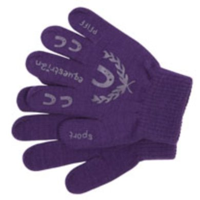 Pfiff Childrens Gloves Print Purple