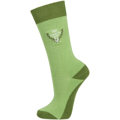 Pfiff Childrens Riding Socks Brown Green 27-30