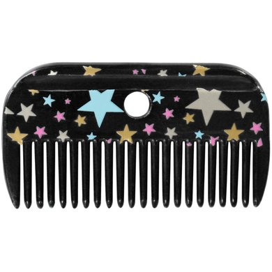 Pfiff Mane Comb Magical Stars Black