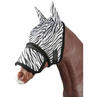 Pfiff Fly Mask Zebra Black White Cob