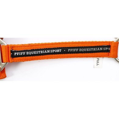 PFIFF Kunststoffhalfter blau unterlegt orange Full