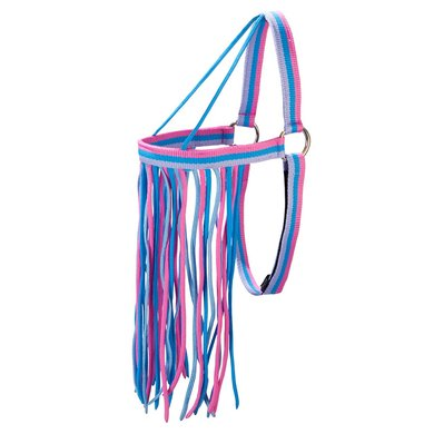 Pfiff Vliegenfrontriem Grijs-Blauw-Roze