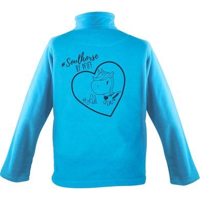 Pfiff Childrens Fleece Jacket Print Blue XL