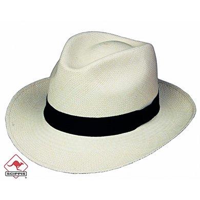 Scippis Classic Panama Hoed Wit