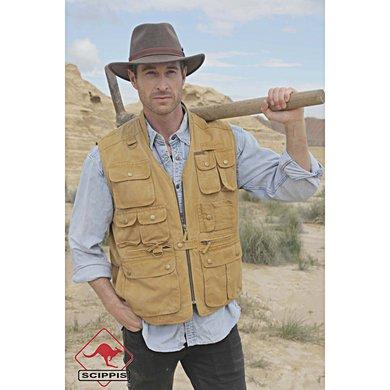 Scippis Canvas Vest Murray Tobacco