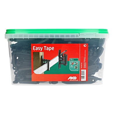 Ako EASY-TAPE Klippisolator f.Band+Seil, Schwarz 75 Stück