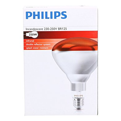 Philips Hard Glas Infrared Lamps Philips Red 250w