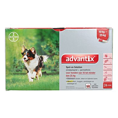 Advantix 250/1250 Spot-On Hond 10-25kg 24 Pipetten