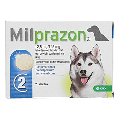 Milprazon Ontwormingsmiddel Hond 12,5mg
