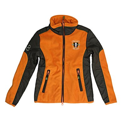 Covalliero Fleecejacke Brix Kind Braun/Orange 134-140